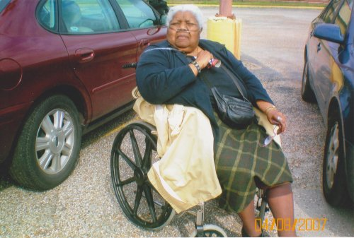 Ms. Dorothy Graham five years before she came to Dr. Reddy for help.  She was progressively having difficulty walking and finally became completely dependent on a wheelchair.  She was also constantly on oxygen.